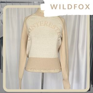 🆕 ⭐️RARE WILDFOX Uninterested Sweater SAMPLE